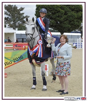 Annabel Shields, GB Showjumper supports Bettalife'